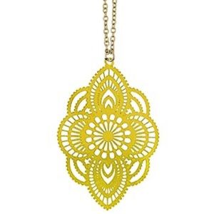 🆕Gold Boho Morocco Filagree Medallion Necklace